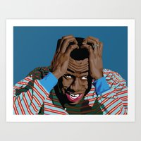 tyler spangler Art Prints featuring Tyler by Lily Patterson