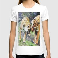 tigers T-shirts featuring Tigers by Irene Jaramillo