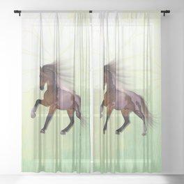 A horse, a friend Sheer Curtain