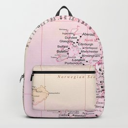 Rose Word Map Europe Backpack