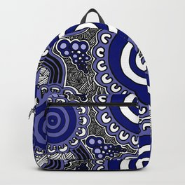Authentic Aboriginal Artwork - Connections Backpack