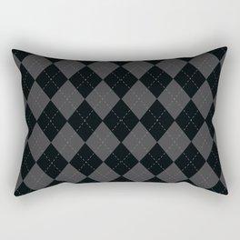 Argyle -Dark Grey Rectangular Pillow