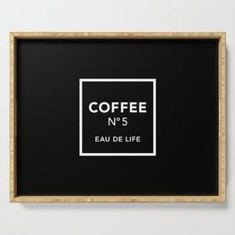 Black Coffee No5 Serving Tray