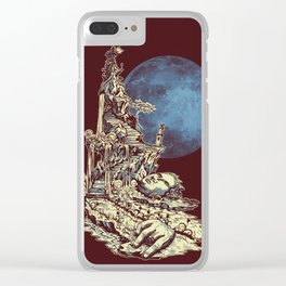 Moonlit Tower Clear iPhone Case