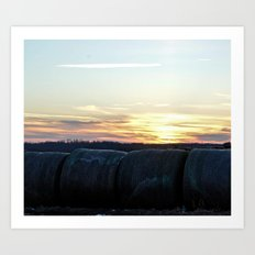 A Farmer's Work is Never Complete Art Print