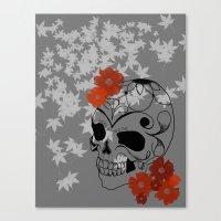sugar skull Canvas Prints featuring Sugar Skull by Tanya Thomas