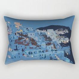 Santorini Nights Rectangular Pillow