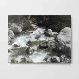Etched In Steam Metal Print