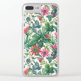 Garden pattern I Clear iPhone Case