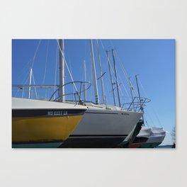 Winter Island Boats Canvas Print