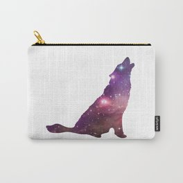 Wolf Animal Totem - Galaxy Art - Spirit Animal - Wolf Silhouette Carry-All Pouch