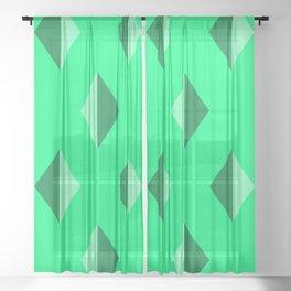 Geometry No. 2 -- Seafoam Sheer Curtain