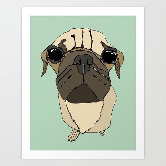 Puglet Art Print
