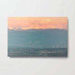 Sunset on the Italian Apennines Metal Print