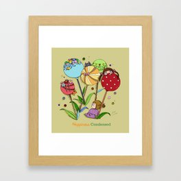 Happiness condensed  Framed Art Print