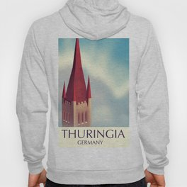 Thuringia Germany travel poster Hoody