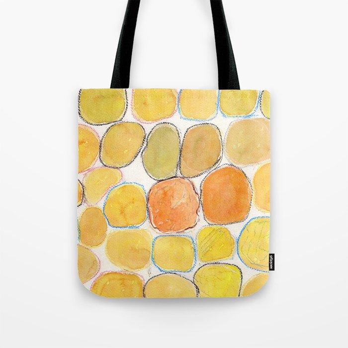 Cheerful orange Gathering Tote Bag