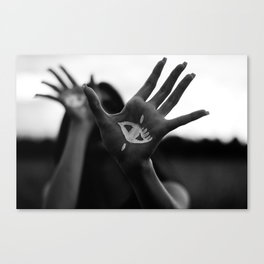 Seeing is Touching - Wide Canvas Print
