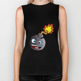 bomb explosive character mascot Biker Tank