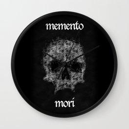 Memento Mori Skull by Brian Vegas Wall Clock