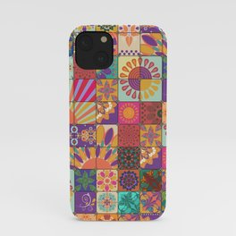 Bohemian Gypsy Hippie Festival Patchwork iPhone Case