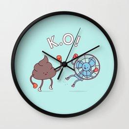 Shit Hits The Fan Wall Clock