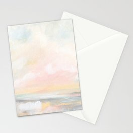 Rebirth - Pastel Ocean Seascape Stationery Cards