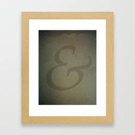Palatino Ampersand Framed Art Print