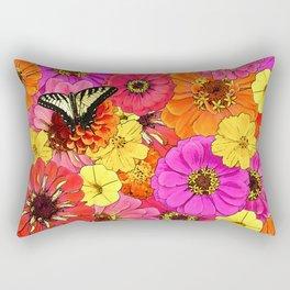 Floral Fiesta Rectangular Pillow