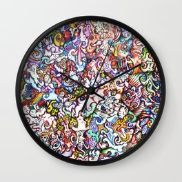 """Silliness"" by RenPenCreations Wall Clock"