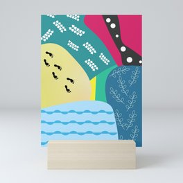 Abstract summer route Mini Art Print