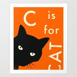 C is for CAT Art Print