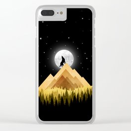 Wolf Night Clear iPhone Case