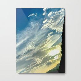 Evening Sunset Landscape II / Road Mountainside Trip Metal Print