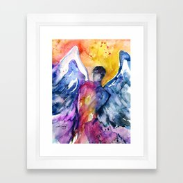 Luke Angel by Kathy Morton Stanion Framed Art Print