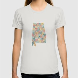 Alabama by County T-shirt