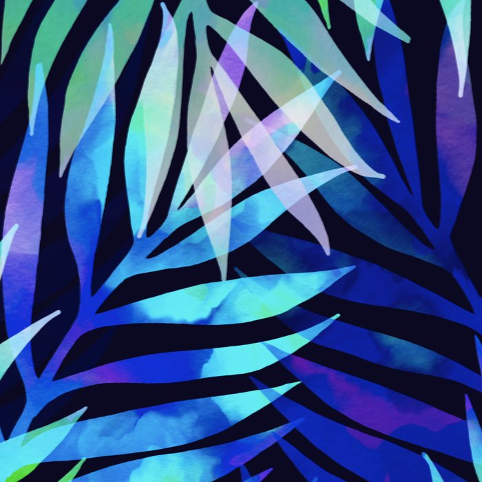 Watercolor palm pattern Leggings