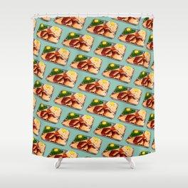 TV Dinner Pattern Shower Curtain