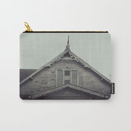 Sepia/Black and white Gingerbread Home Print, Historic Home Print, Colonial Home Photography, Trini Carry-All Pouch