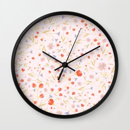 W/LDFLOWERS Wall Clock