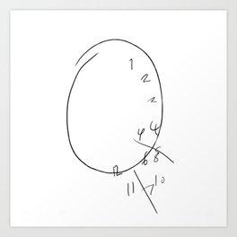 Will Graham - The Clock Art Print