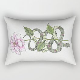 Floral Snake Rectangular Pillow