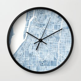 Memphis Tennessee blueprint watercolor map Wall Clock