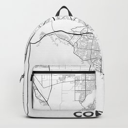 Minimal City Maps - Map Of Corona, California, United States Backpack