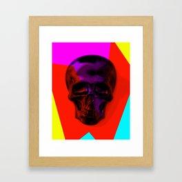 Skull on colours Framed Art Print