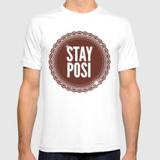 Stay Posi Mens Fitted Tee MEDIUM White