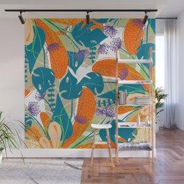 BLOOM ORANGE Wall Mural