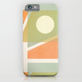 Abstraction_SUN_RECTANGLE_SHAPE_ART_Minimalism_001A iPhone Case