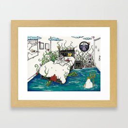 Books Coming to Life: The Little Mermaid Framed Art Print