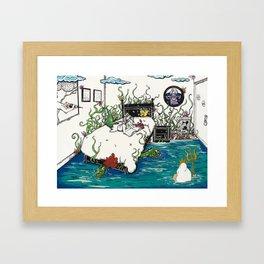 Books Coming to Life: The Little Mermaid Framed Art Print